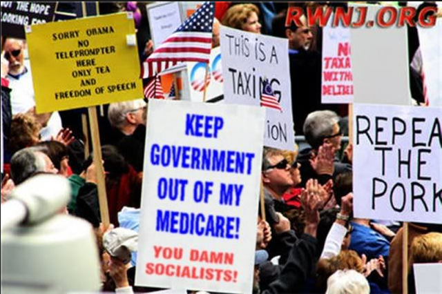 Image result for t keep your government hands off of my medicare times union